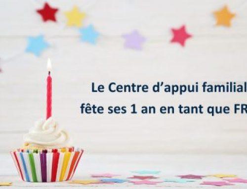 Le Centre d'appui familial fête ses 1 an en tant que FRN