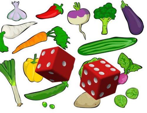 Jouer en famille – Bâtir des liens / Dé des légumes